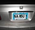 NA Daytona Member hiding license plate
