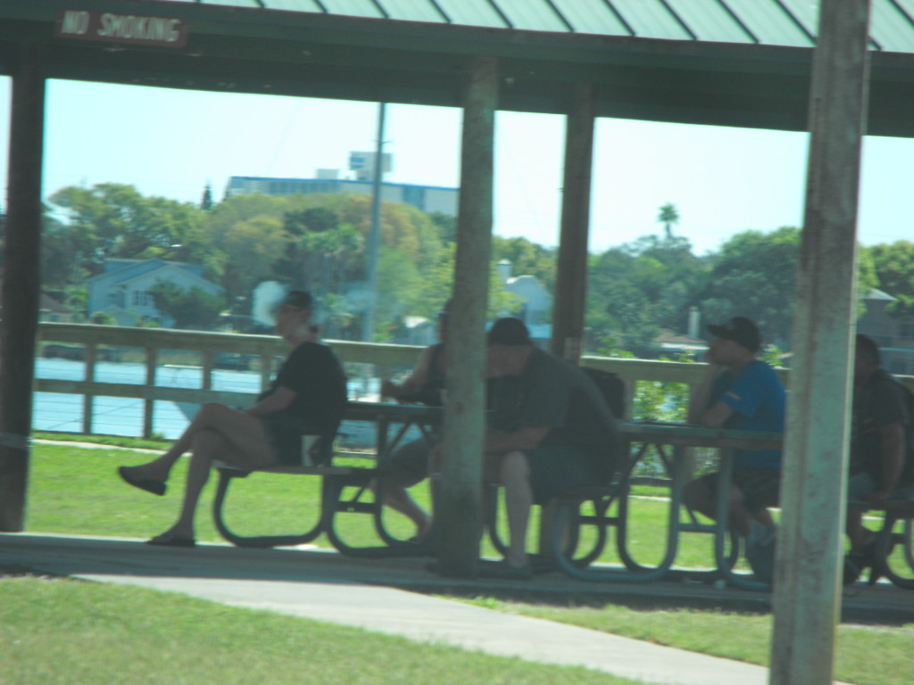 NA Members smoking in Sunrise Park Holly Hill