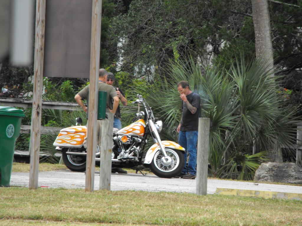 Daytona AA Members Smoking in Sunrise Park October 2015